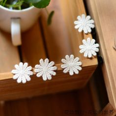 Beige lace accessories DIY qualities of soluble cotton daisy flower stickers 2.6 cm wide-in Lace from Home & Garden on Aliexpress.com | Alibaba Group