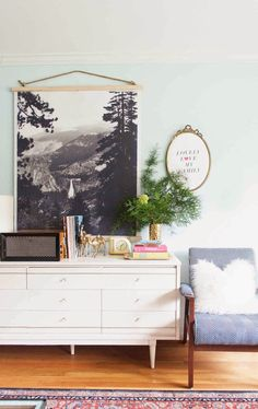 friday diy: cheap black and white poster art! make this wall hanging for around $30. cheap art