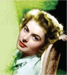 Ingrid Bergman, to see her young and in rapturous  color, is to appreciate God's handiwork written upon that beauteous face!  L.M. Ross