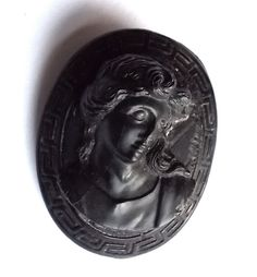 Victorian Jet Mourning Brooch