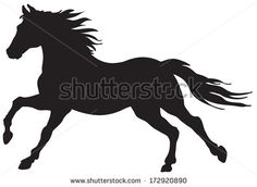 "Find ""horses silhouette"" stock images in HD and millions of other royalty-free stock photos, illustrations and vectors in the Shutterstock collection. Silhouette Images, Animal Silhouette, Black Silhouette, Silhouette Vector, Running Silhouette, Horse Stencil, Stencil Art, Caballo Spirit, Horse Quilt"