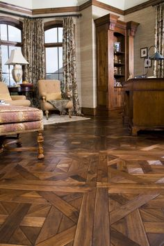 Legendary Hardwood Floors_ParquetryFlooring_Parquetry Bordeaux Walnut Floor_Kohler,WI