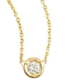 Station Diamond Necklace, yellow - Roberto Coin