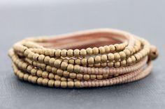 Nude Wrap Around Beaded Bracelet