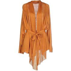 Cruciani Cardigan (4.245 CZK) ❤ liked on Polyvore featuring tops, cardigans, orange, silk cardigan, lightweight cardigan, cruciani, long sleeve silk top and long sleeve cardigan