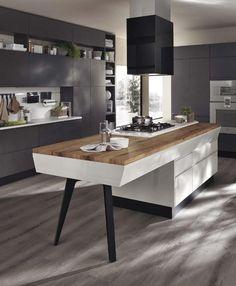 Extensiones de isla que formarán la mesa de tu cocina