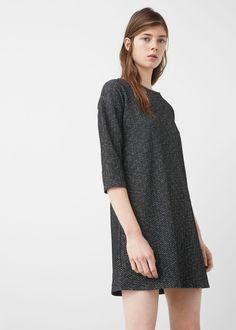 Textured shift dress - Dresses for Women   MANGO USA