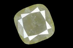 1.31 Ct Natural Loose Diamond Cushion Grey Yellow Color 6.65X6.65X3.15 MM K2823