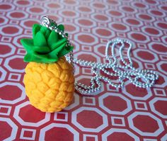 I Love Pineapple Necklace by 3ApplesOnline on Etsy, $8.50