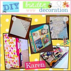 """""""DIY; Binder Decoration :)"""" by every-girl-has-a-tip on Polyvore"""