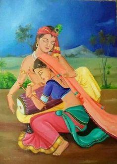 खुशियों के गीत गाओ राधे राधे कृष्ण बुलाओ .. Radha Krishna Love Quotes, Radha Krishna Pictures, Krishna Images, Krishna Leela, Krishna Radha, Lord Krishna, Radha Rani, Indiana, Krishna Statue
