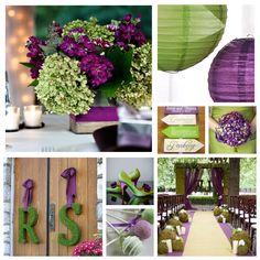Purple and Moss Green Wedding Inspiration