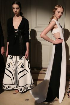 Backstage at Valentino Couture Fall 2014 [Photo by Delphine Achard]