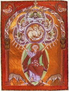Евангелие Оттона III. Ок 1000 г. Евангелист Лука.