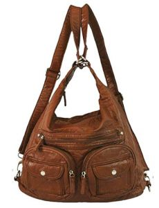 e746d88a7e Ampere Creations Convertible Purse - Both Backpack and Shoulder Bag in Soft Vegan  Leather. STAR Backpacks