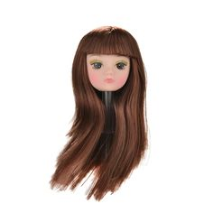 """2pcs//lot DIY Kids Toy Golden Hair Princess Doll Head For 11.5/"""" Doll Accessories"""