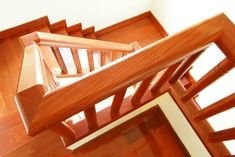 stairs made from rich natural wood