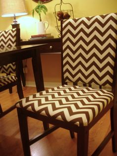Chevron Recovered Chair