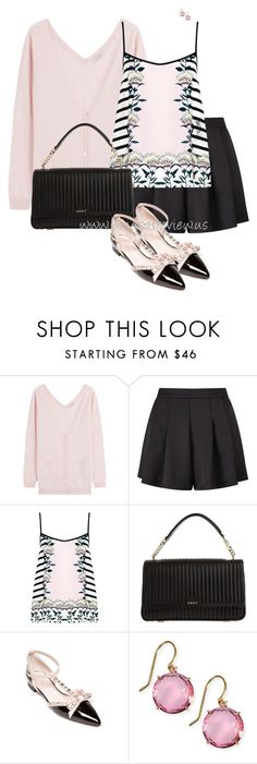 """Cardis & Shorts"" by bluecatreview13 ❤ liked on Polyvore featuring Nina Ricci, Miss Selfridge, Markus Lupfer, DKNY, Kate Spade, Suzanne Kalan, shorts, cardi, bluecatreview and over50styling"