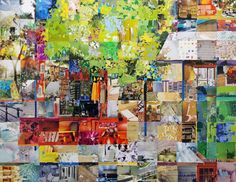 collage on canvas