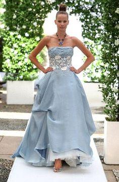 Blue and White Wedding Ideas - Nice light blue wedding dress.  Keywords: #weddings #jevelweddingplanning Follow Us: www.jevelweddingplanning.com  www.facebook.com/jevelweddingplanning/