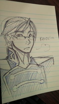 """toastsamurai: """"I have been moving so haven't had a lot of time to draw so here is a quick Renarin I doodled at work """""""