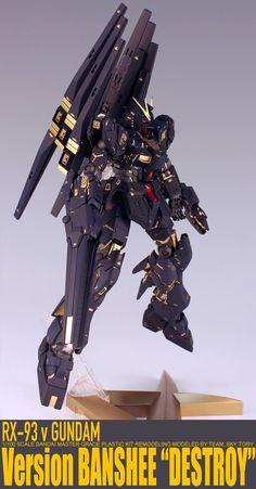 GUNDAM GUY: MG 1/100 RX-93 vGUNDAM (Banshee Version) - Customized Build