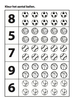 Schermafbeelding 2012-09-21 om 20.40.39 Grade R Worksheets, Preschool Number Worksheets, Numbers Preschool, Preschool Games, Baseball Activities, Maternelle Grande Section, Sports Coloring Pages, Creative Curriculum, School Sports