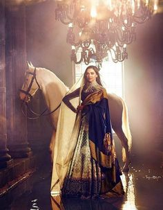 Deepika is all set to star in Sanjay Leela Bhansali's Padmavati and she looked as royal as she ought to be. This image was posted on Instagram by Sabyasachi Mukherjee