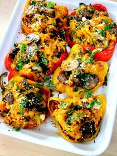 spaghetti squash stuffed peppers