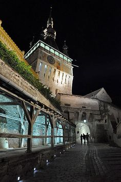 Clock tower by night - Sighisoara, Romania Copyright: maeva balay