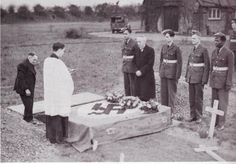 "Similar to what was seen during World War One, the burial of enemy pilots continued as something of a common practice during the Second World War among the Royal Air Force. Many of the downed Luftwaffe pilots were buried in Great Britain with honors.  ""It was the gentlemanly thing to do."""