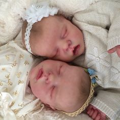 Twin A Twin B Bonnie Brown reborn doll. Created by Mary Anderson Dolls.