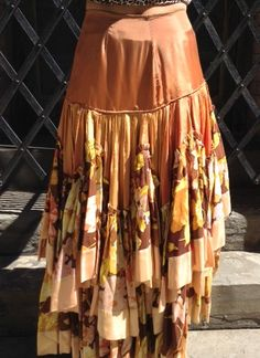 1930's Flounced Floral Skirt  Vintage collection by MinaLucinda, $465.00