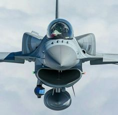 Fighting Falcon with an external and conformal fuel tanks. Military Ranks, Military Jets, Military Weapons, Military Aircraft, Fighter Aircraft, Fighter Jets, F 16 Falcon, Fear Of Flying, Army Vehicles