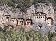Marmaris Turkey sailing around Turkey for all those  years these Phoenician burial sites become second nature