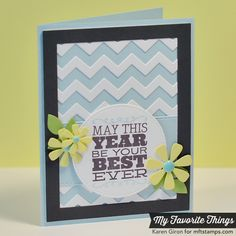 Birthday Sentiments, Chevron Cover-Up Die-namics, Flower and Leaf Trio Die-namics, Flower Box Die-namics, Horizontal Stitched Strips Die-namics, Rectangle Frames Die-namics, Stitched Circle STAX Die-namics - Karen Giron #mftstamps