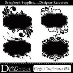 Frame Brushes - Elegant Tag - Photoshop brushes