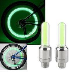 Green LED Flash Tyre Wheel Valve Cap Light for Car Bike bicycle Motorbicycle Wheel Light Tire Light Green Led, Neon Green, Pimp Your Bike, Beyond The Rack, Bike Wheel, Bike Parts, Bicycle Accessories, Luz Led, Packing Light
