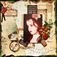Amaze layout by @ManyHarrell Product by: #Graphic45 - Olde Curiosity Shoppe