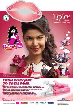Simple is boring, Naughty is fun.    LipIce offers a wide range of lip care products to give you naughty, flirty lips. From delicious fruity flavour lip balms to magical sheer color which changes from white to pink on application, LipIce has a range of products for young girls who are fun loving, adventurous, confident, smart and intelligent. LipIce brings out the wild side of you. Go on. Be a Lipice Girl today, and get ready to be naughty and flirty!