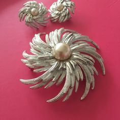 1960's Sarah Coventry Star Set Gorgeous vintage set! So elegant. Would be a perfect addition to your wedding wardrobe. Similar styles by this designer were worn on Mad Men. Very slight tarnish on the brooch. Not noticeable. No trade/ lowball offers, please. Jewelry