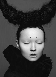 strangelycompelling:    Model: Nastya TarasovaStyling: Lena Erysheva & Masha ZagirovaHair and make-up: Masha ZagirovaPhoto: Lena Erysheva  SC|SC on Facebook