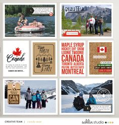 Canada digital scrapbooking layout created by ctmm4 featuring Project Mouse (World): Canada by Sahlin Studio and Britt-ish Designs