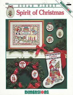 Cross Stitch Pattern Booklet - Spirit of Christmas - Dimensions by Susan Winget