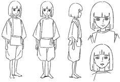 Film: Spirited Away (千と千尋の神隠し) ===== Character Design - Model Sheets: Haku ===== Hayao Miyazaki