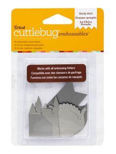www.memorymiser.com - Cuttlebug Embossables Girly Girl - Silver