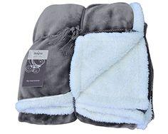 Napa Super Soft Micro Mink Fleece Sherpa Bed Throw TV Blanket 50 x 60 Reversible Grey