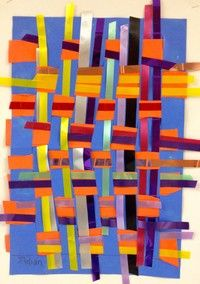 3rd Grade Art - Paper and Ribbon Weaving