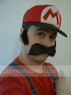 Thriftshop Super Mario Costume DIY (do it yourself) costume can be made for $15 by visiting a thrift store and Dollar Tree